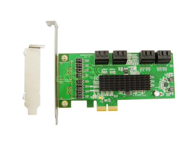 Marvell Chipset 8 Portas SATA 6 GB PCI Express Card Controller PCI-e para SATA 3.0 Conversor Suporta NCQ & Porto Multiplicador FIS