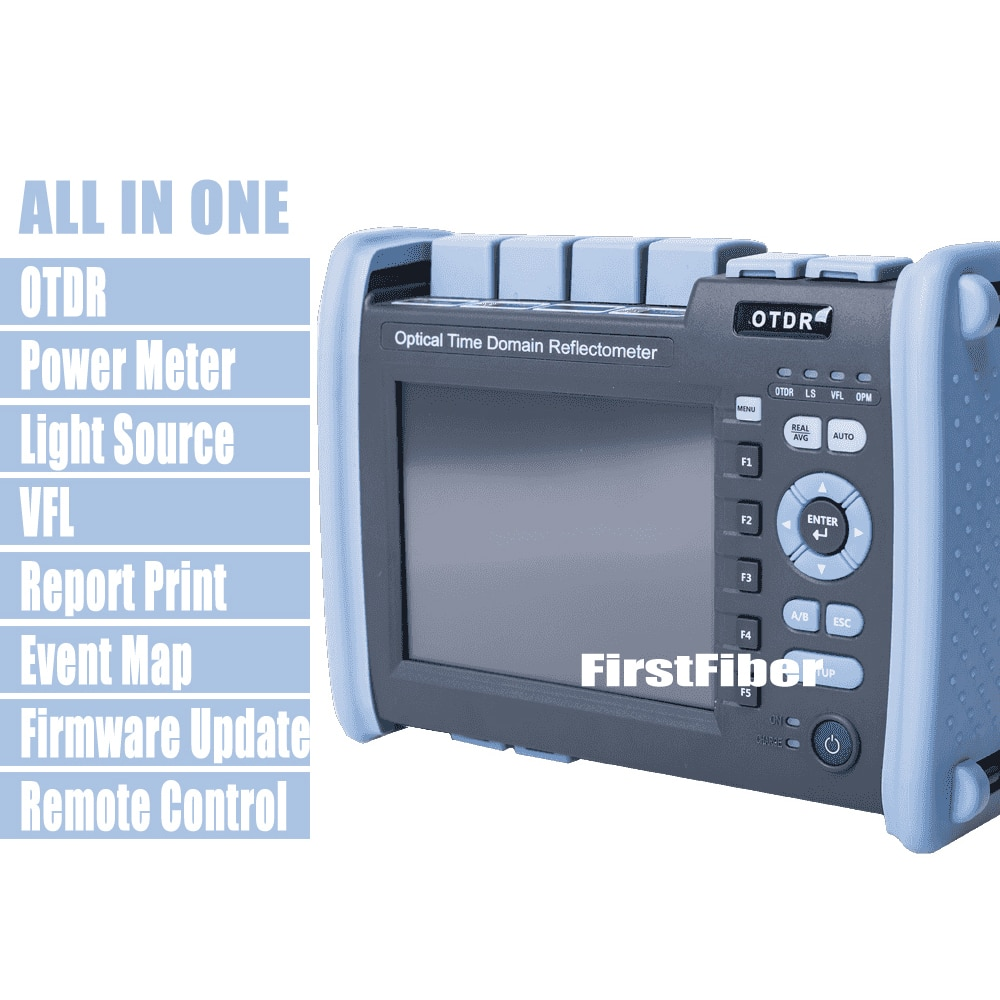 FF-990PRO-S1 fibra óptica OTDR 1310/1550nm 35/33dB reflectómetro integrado en VFL OPM OLS pantalla táctil, con conector SC ST FC LC