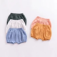 summer childrens clothing girls shorts toddler solid cotton linen baby kids clothes shorts bloomers pants 1 4y