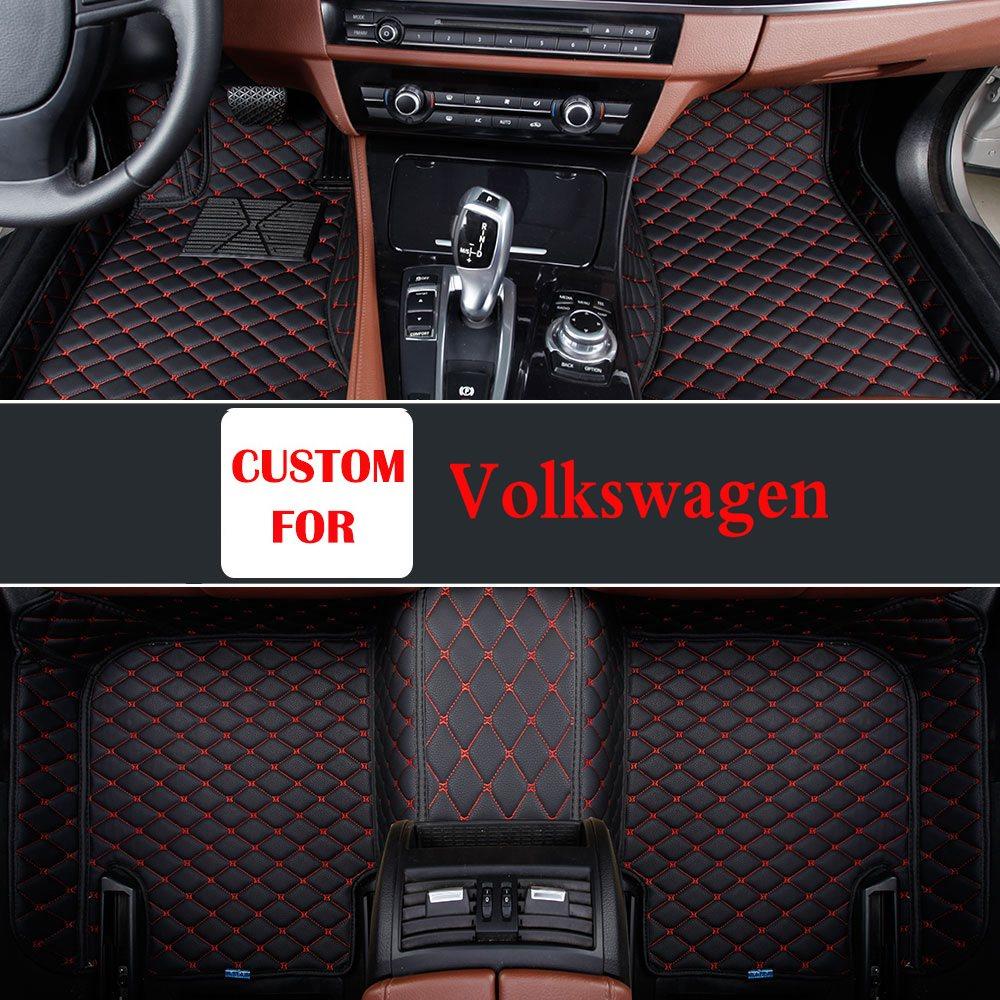 2017 ajuste personalizado de escarabajo Volkswagen Cc Eos Golf Jetta Passat Tiguan Touareg Sharan coche accesorio alfombra