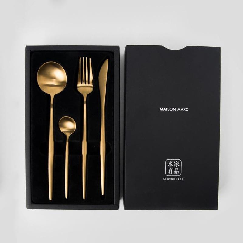 Youpin Maision Maxx juego de vajilla de acero inoxidable cuchillo cuchara tenedor cuchara de té 4 Kit Smart Home