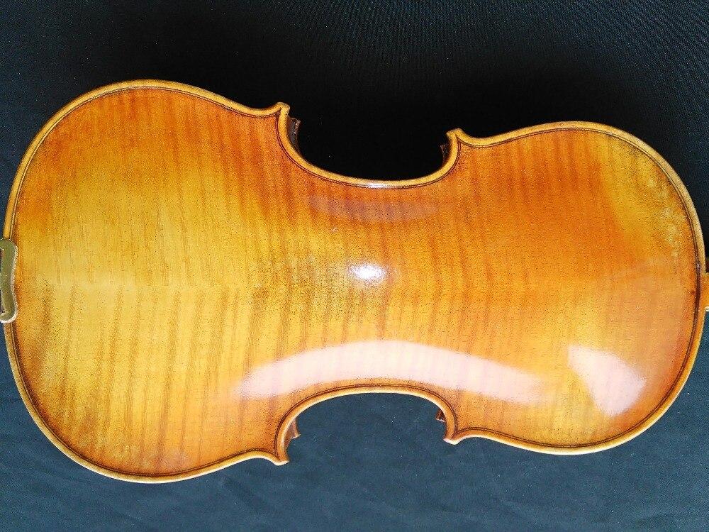 Qualität Geflammten Ahornboden & Fichtendecke Hand Gemacht Violine 4/4 Europäischen Holz M9006 #