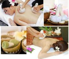 3 uds Thai tipo aromaterapia medicina herbal Bola de masaje Sunburn ajenjo medicina bolsa rollo whack pack de incienso