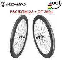 competitive price 50mm 23mm carbon tubular for road bicycle 700c far sports road wheelsets with dt hubs basalt braking track