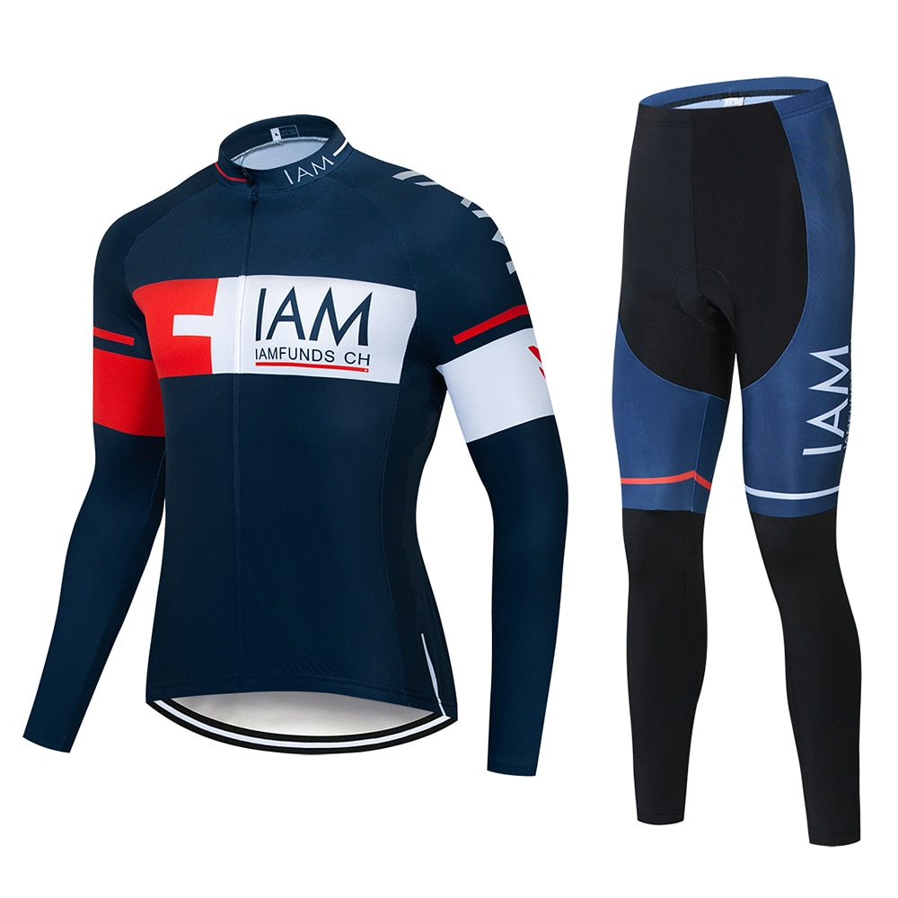 Nuevo IAM Pro equipo de manga larga ciclismo Jersey establece transpirable 9D Gel Pad ropa deportiva bicicleta de montaña ciclismo ropa