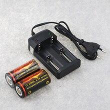 2 pièces rechargeables trust fire 6000mAh 3.7V 32650 Li-ion Batteries batterie + 1 chargeur universel pour 14500 16340 18650 26650 ect.