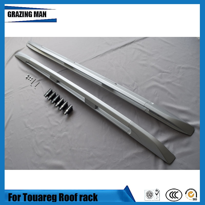 2 pcs Aluminium alloy screw install car side rail barroof rack for Cayenne Tuareg 2004 2005 2006 2007 2008 2009 2010