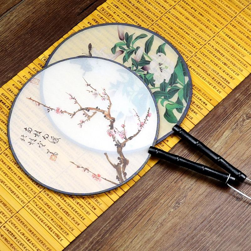 Ventilateur rond fleur tenu dans la main pliant soie pliant FanCircle pour mariage événement fête fournitures fête décor cadeau rond