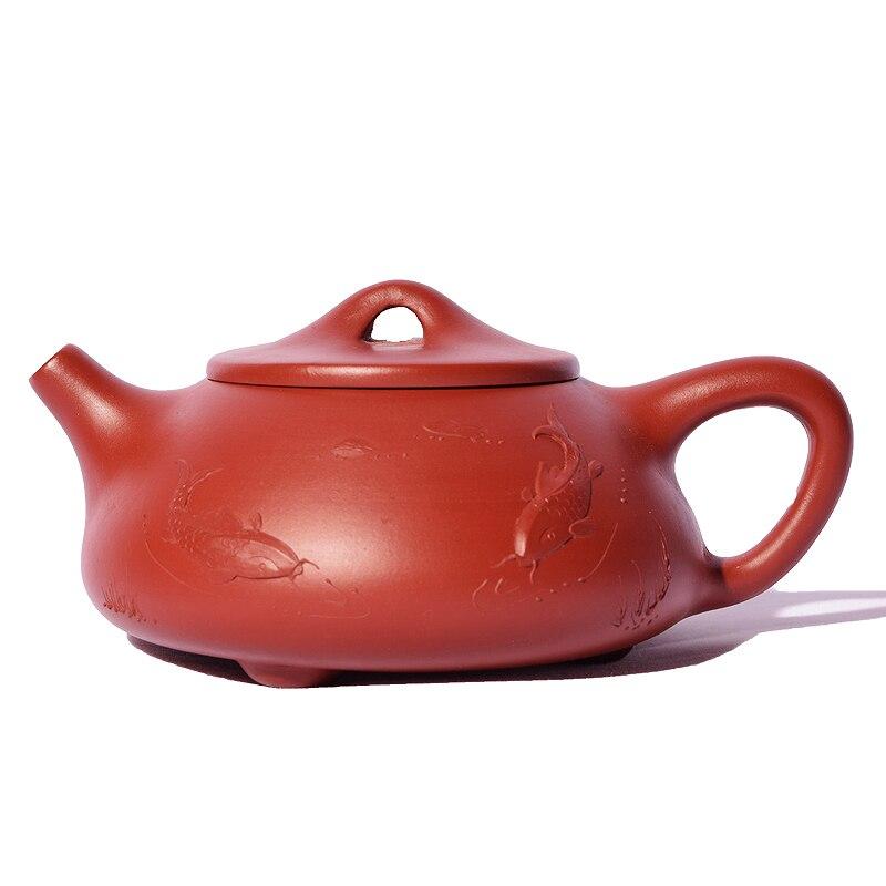 Аутентичный Yixing Фиолетовый Глиняный Чайник, 220 мл, ручная роспись, винтажный узор, чайный горшок Dahongpao, чайник Chahai Raw Ore, керамический черный чайник для чая
