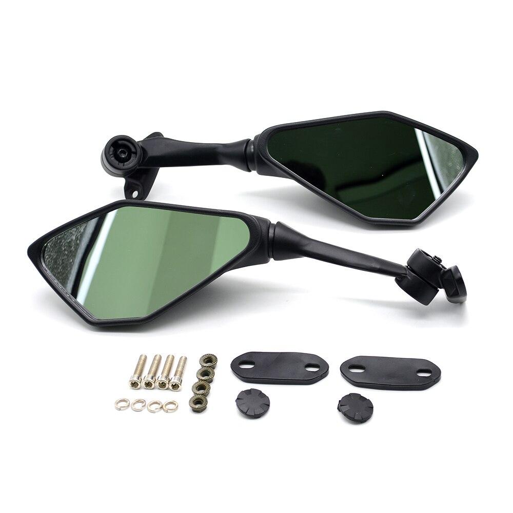 Para 1 par Universal de motocicleta CNC de aluminio de respaldo accesorios para espejos retrovisores espejo para Honda VFR750 VFR800 VTR1000 CBF1000