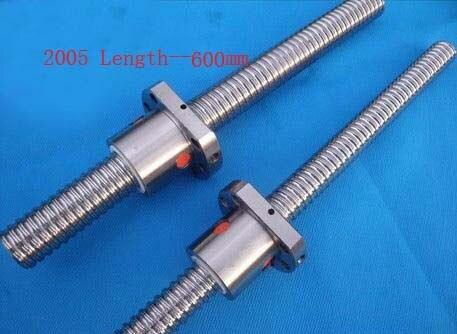 Acme tornillos diámetro 20mm Ballscrew SFU2005 paso 5mm de longitud 600mm con bola tuerca CNC 3D piezas de la impresora