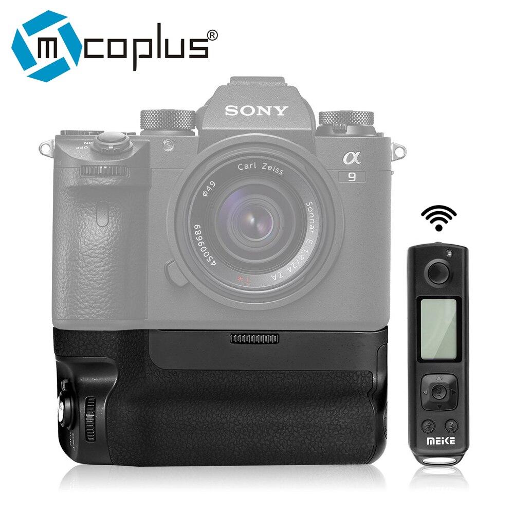 Mcoplus Meike MK-A9 Pro Вертикальная Батарейная ручка с пультом дистанционного управления 2,4 ГГц для камеры Sony A9 A7RIII A7III A7 III