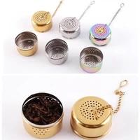 stainless steel tea strainer infuser tea locking ball tea mesh herbal ball cooking tools f20173358