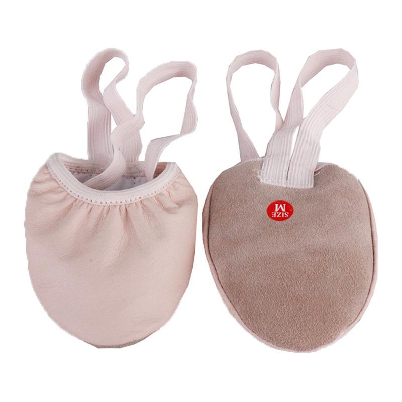 Ushine EU35-42 pano de couro metade antiderrapante único estiramento exercício ginástica rítmica pointe barriga ballet sapatos de dança para mulher