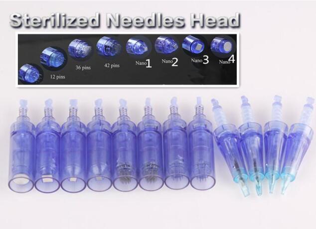 Electric Permanent Makeup Machine Tattoo Needle Tip 9 /12/ 36 / 42 pins / Nano Cartridge For Auto MTS Pen