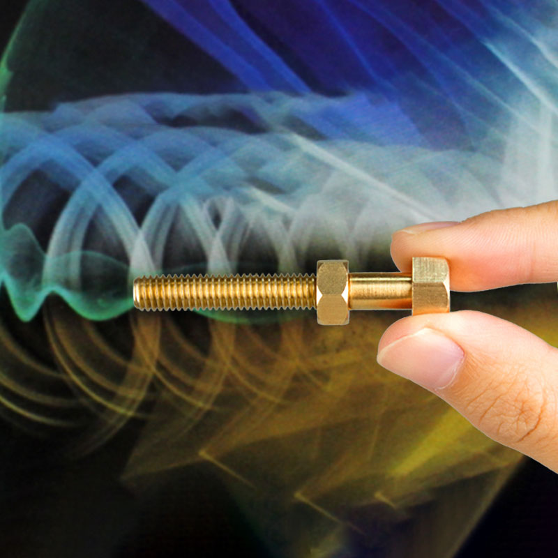 Idea tornillo de rotación automática tornillo truco de magia con anillo magnético rotación creativo tornillo magnético Control niño broma juguete