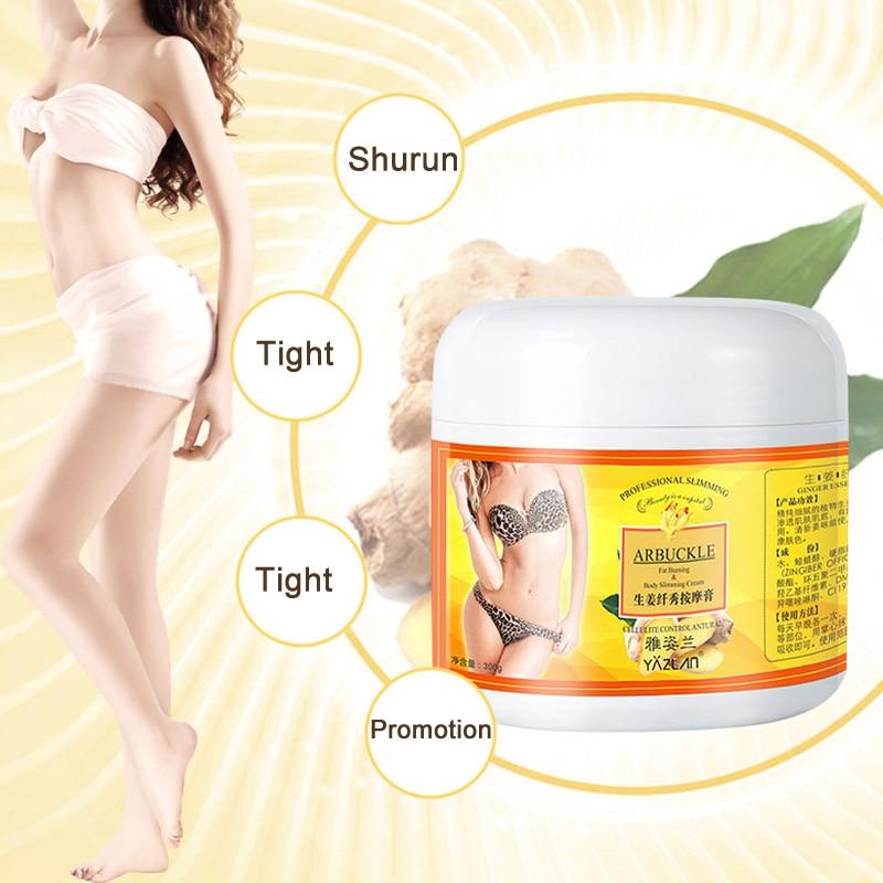 Ginger Fat Burning Cream Anti-Cellulite Shaping Gel Moisturizing Firming Full Body Leg Waist Slimming Weight Loss Massaging