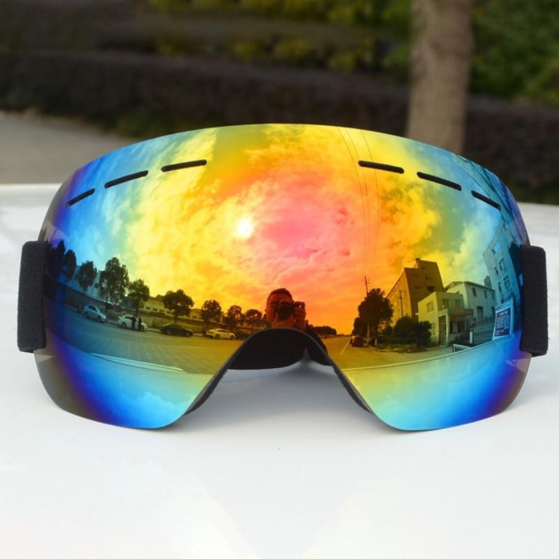 Брендовые лыжные очки UV400 Анти-туман большая Лыжная маска очки для катания на лыжах унисекс Снег Сноуборд очки