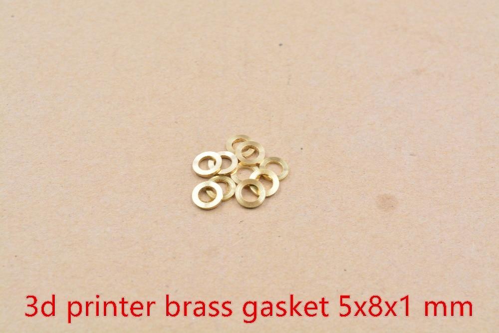 3d printer openbuilds anti lock gasket 5x8x1 mm brass gasket flat pad 10pcs
