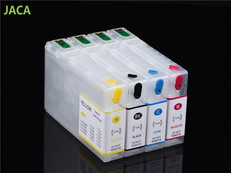 Cartucho de tinta recargable T7891-T7894 para impresora Epson work force prowf 5110 5620 5690 5190 4640 4630 cartucho vacío con Chip