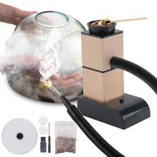 BORUiT Portable Molecular Cuisine Smoking Gun Food Cold Smoke Generator Meat Burn Smokehouse Cooking for BBQ Grill Smoker Wood