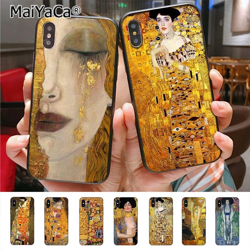 MaiYaCa Gustav Klimt New phone case  for iphone 11 Pro X 8plus 7 6splus 5s se 7plus case Cover