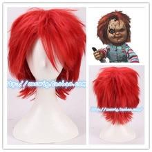 Horro Movie Bruid van Chucky Rode Korte Pruik Chucky Rollenspel Rood Haar kostuums
