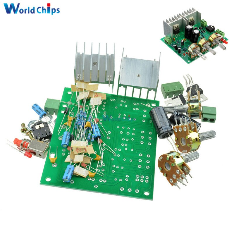 Два 2 канала 2,0 AC 12V 15W аудио TDA2030A модуль Hi-Fi стерео усилитель плата DIY Kit