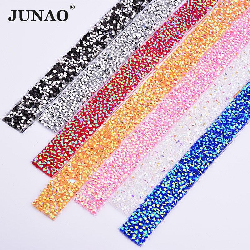 Стразы JUNAO 5 ярдов * 15 мм, розовый цвет, с горячей фиксацией, отделка цепочкой, железный материал, для передачи, кристаллическая ткань, аппликация со стразами, ленточные ленты, ремесла