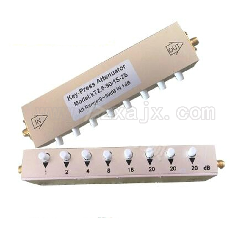 Botón de atenuación ajustable Coaxial SMA/N 0-90dB atenuación ajustable DC-2.5GHz por DHL o EMS envío gratis