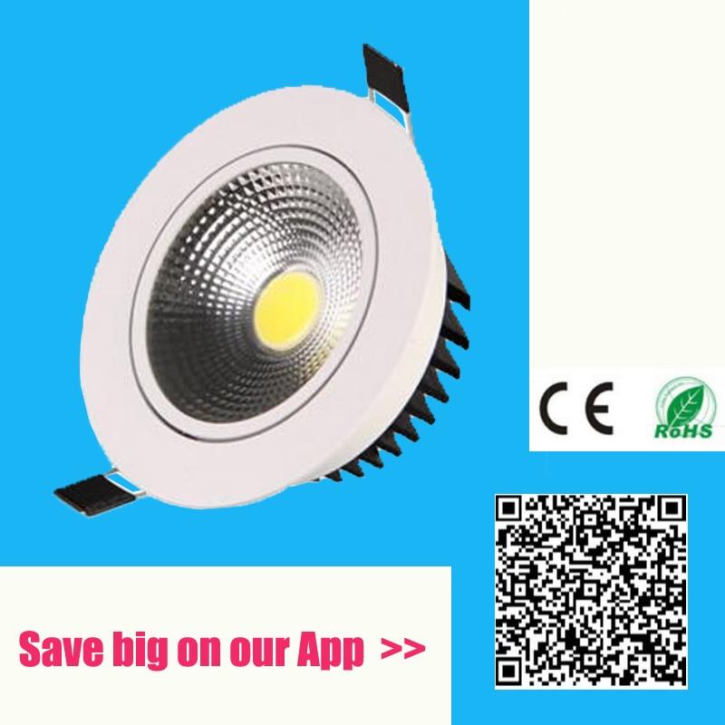 Super Bright Recessed LED cob Downlight Dimmable 3W 5W 7W 9W 15W 20W LED Spot light LED decoration Ceiling Lamp AC 110V 220V gd dimmable led recessed downlight 3w 5w 7w 10w 12w 15w 20w 24w spot led ceiling down light 110v 220v 230v cob led downlight