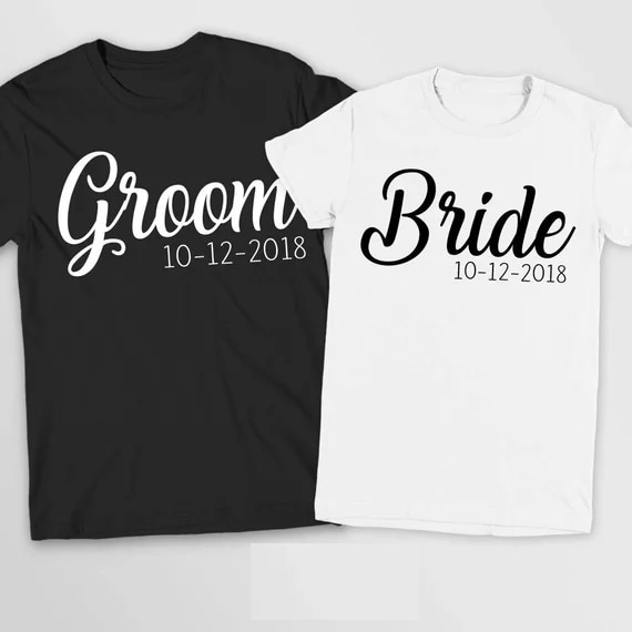 personalize Wedding Mr and Mrs T Shirts Bride Groom T-Shirt Honeymoon Valentines Day Gifts Marriage TShirt tanks tops tees gifts