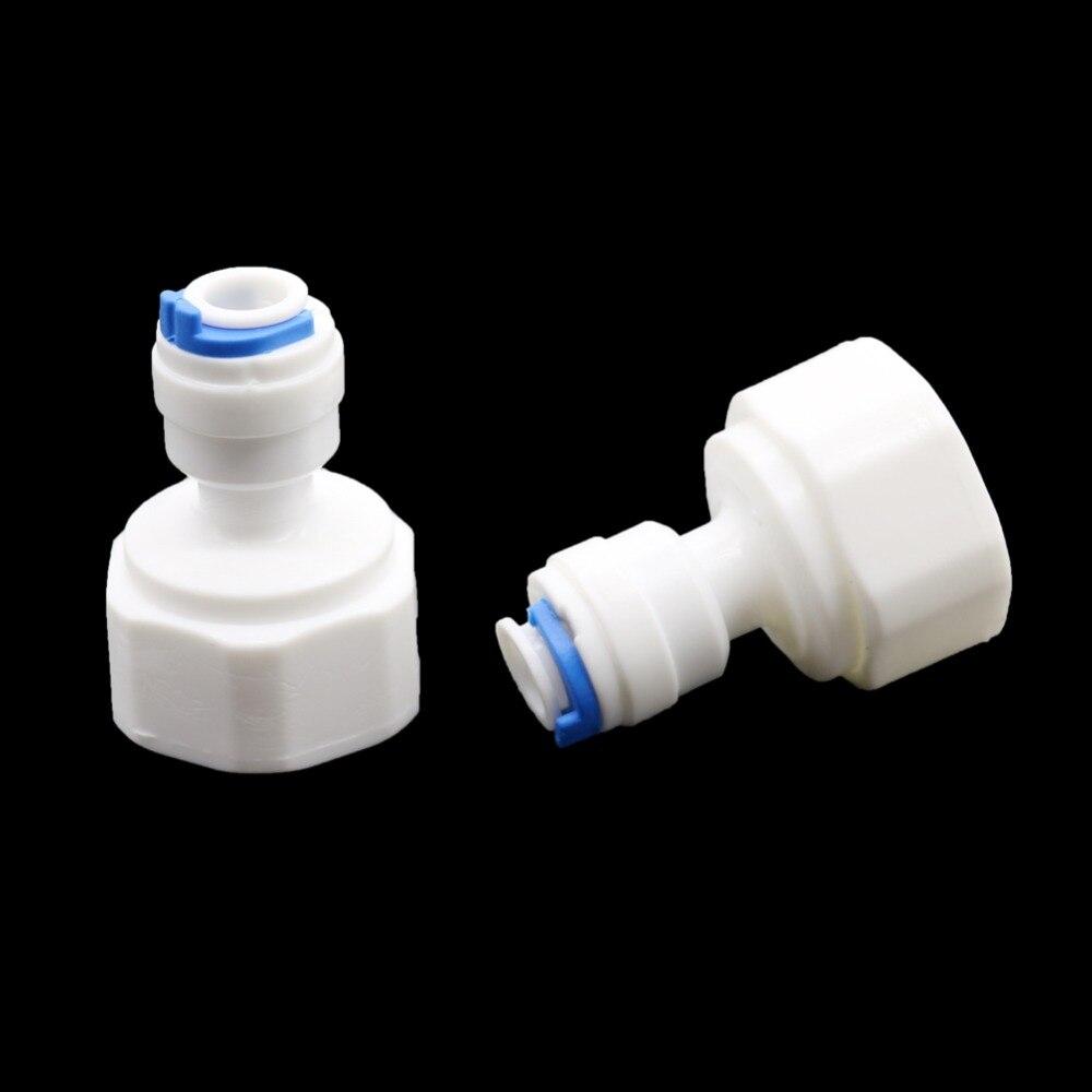 5 uds. De hilo femenino de 1/2 pulgadas a 6mm de bloqueo deslizante conector rápido Válvula de junta de 1/4 pulgadas conector neumático de tubería suministros de jardín