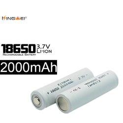 Бесплатная доставка 10 шт kingwei ICR18650 3,7 V 2000mah литий-ионная аккумуляторная батарея для налобного блока питания