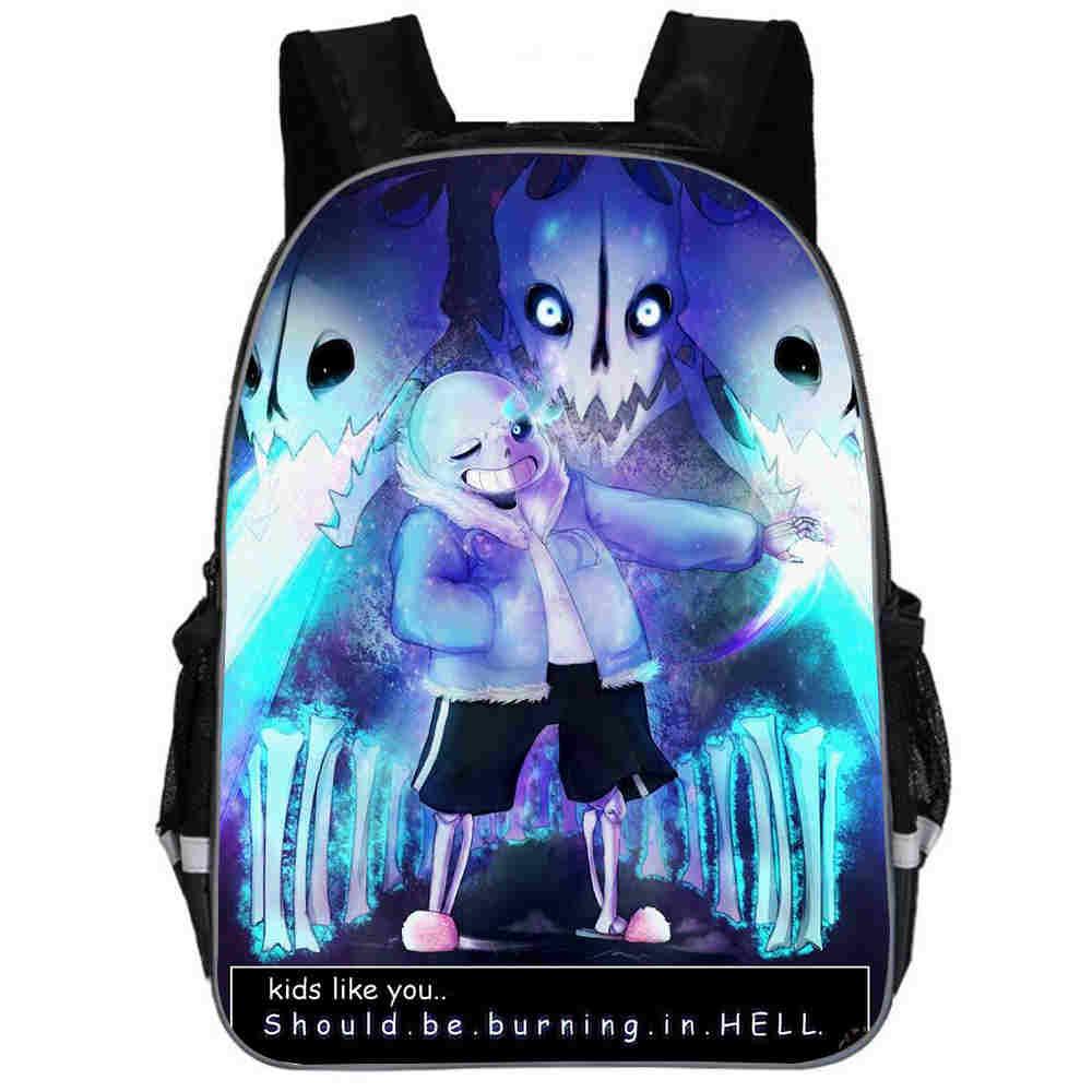 Undertale Backpack Animal Anime FNAF Freddy UT Sans Casual School Bags Toddlers Boys Girls Teenager Mochila Gift Bolsa