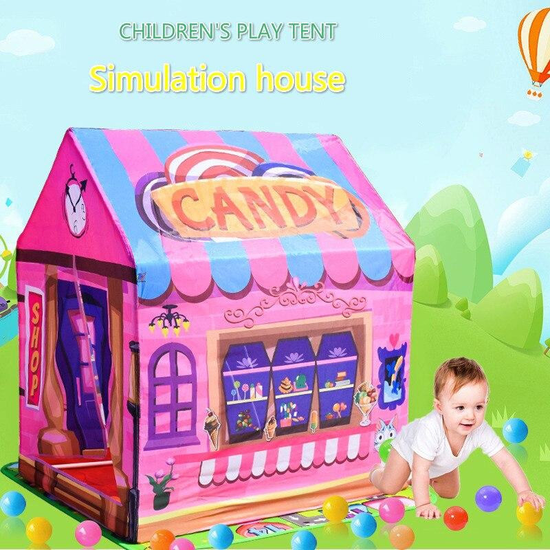 Jogar tenda jogo casa brinquedos portátil dobrável bebê indoor esportes ao ar livre menina princesa casa menino tenda presentes do agregado familiar para crianças