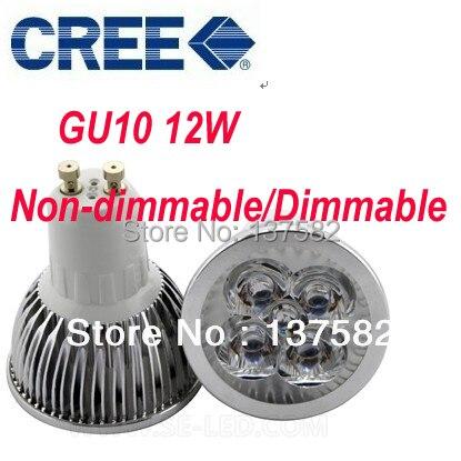 10 pçs/lote Frete grátis Regulável High Power 4X3 W 12 W AC110-240V GU10 Lâmpada LED Downlight LED lâmpada LED Spotlight LED Lighting