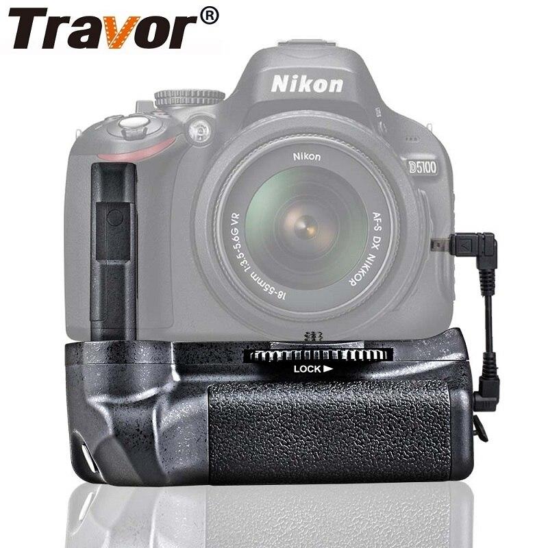 Soporte de agarre de batería de cámara profesional Travor para Nikon D5100 D5200 D5300 DSLR cámara funciona con EN-EL14