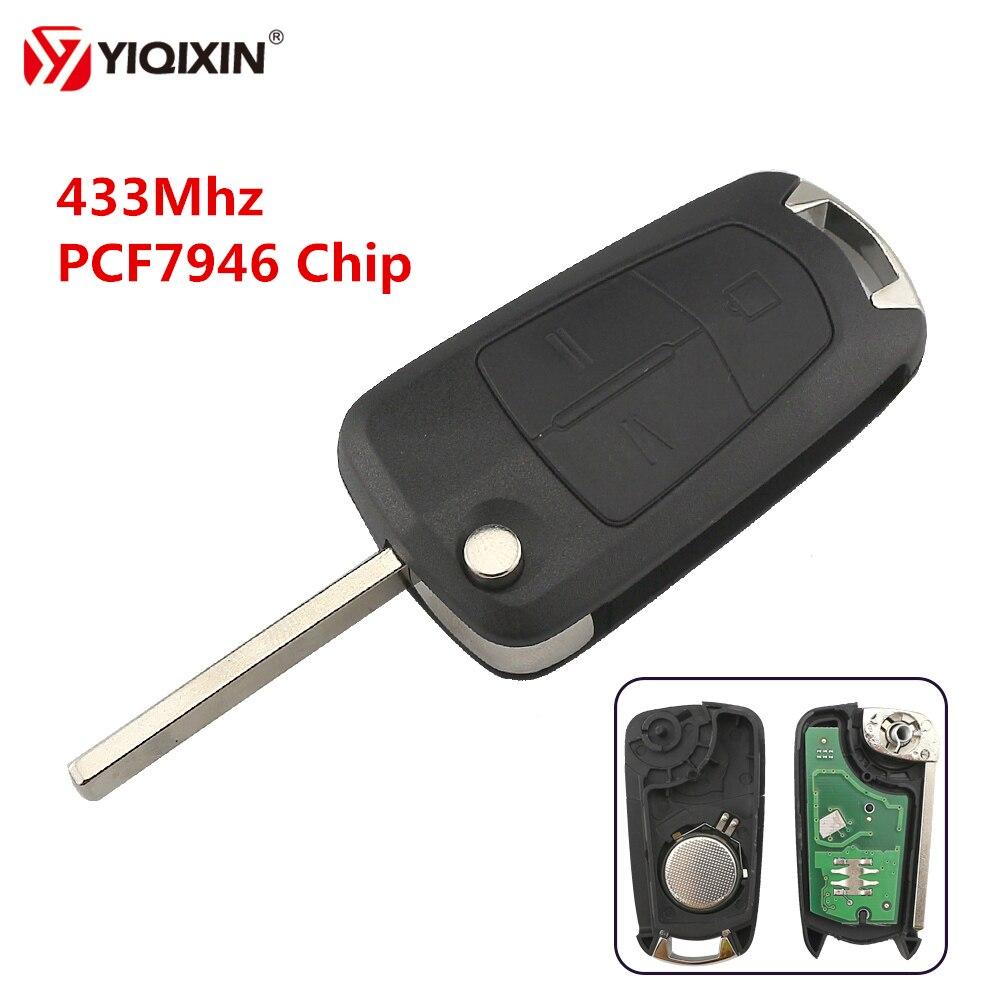 YIQIXIN 3 Taste 433Mhz PCF7946 Chip Remote Schlüssel Für Opel Vauxhall Zafira B 2011 Astra H Meriva B Corsa D 2007-2012 Auto Schlüssel
