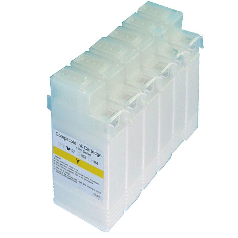 Einkshop PFI-102 cartucho de tinta rellenable para Canon IPF 605, 650, 655, 750, 755 IPF605 IPF650 IPF655 IPF750 IPF755 sin chip