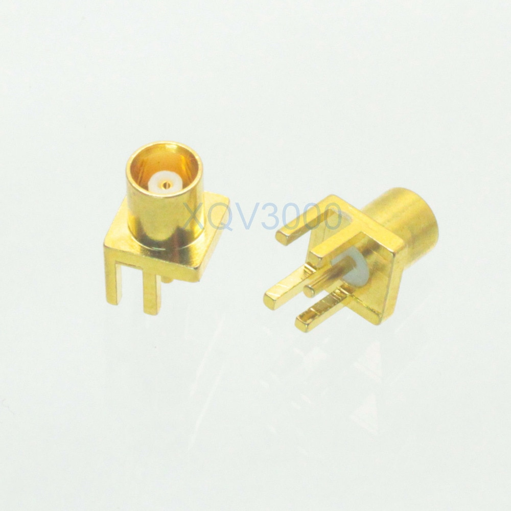 1pce Conector MCX pin jack fêmea solda PCB ponta clipe montar hetero RF COAXIAL