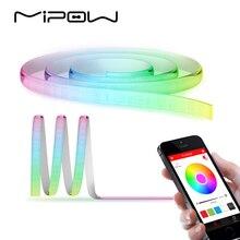 MIPOW 24V LED şerit ışık 2M RGB Wifi Bluetooth kontrol kapalı ev dekor esnek