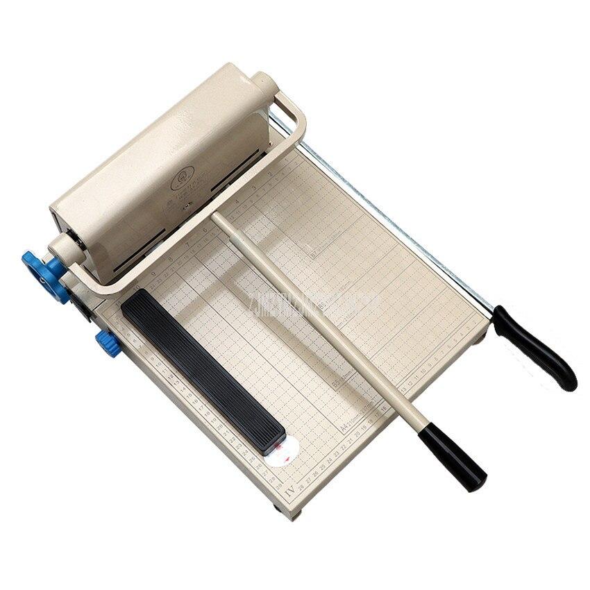 متعددة الوظائف A4 حجم دليل آلة قص الورق مشذب الورق القاطع مع 3 ثقب اللكم Funtion ورقة قطع YG-210
