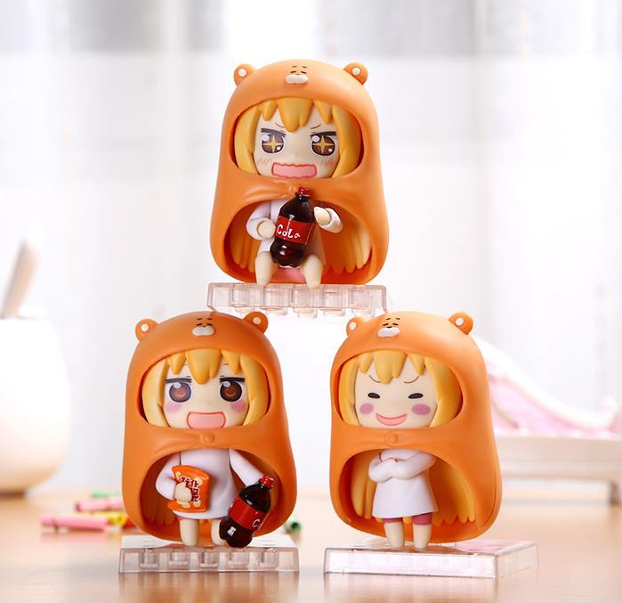 ¡3 unids/set Anime Himouto! Umaru-chan Doma Umaru Q versión PVC figura de acción coleccionable modelo de juguete 9 cm KT1769