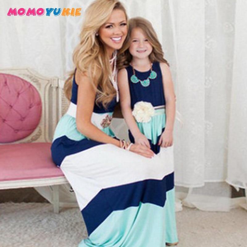 Одинаковые платья для мамы и дочки; Одежда для мамы и дочки; Платье в полоску для мамы; Одежда для детей и родителей; Одежда для всей семьи