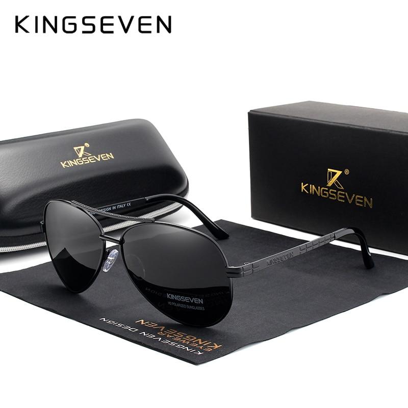 KINGSEVEN 2019 New Design Aviation Alloy Frame HD Polarized Sunglasses For Men UV400 Protection