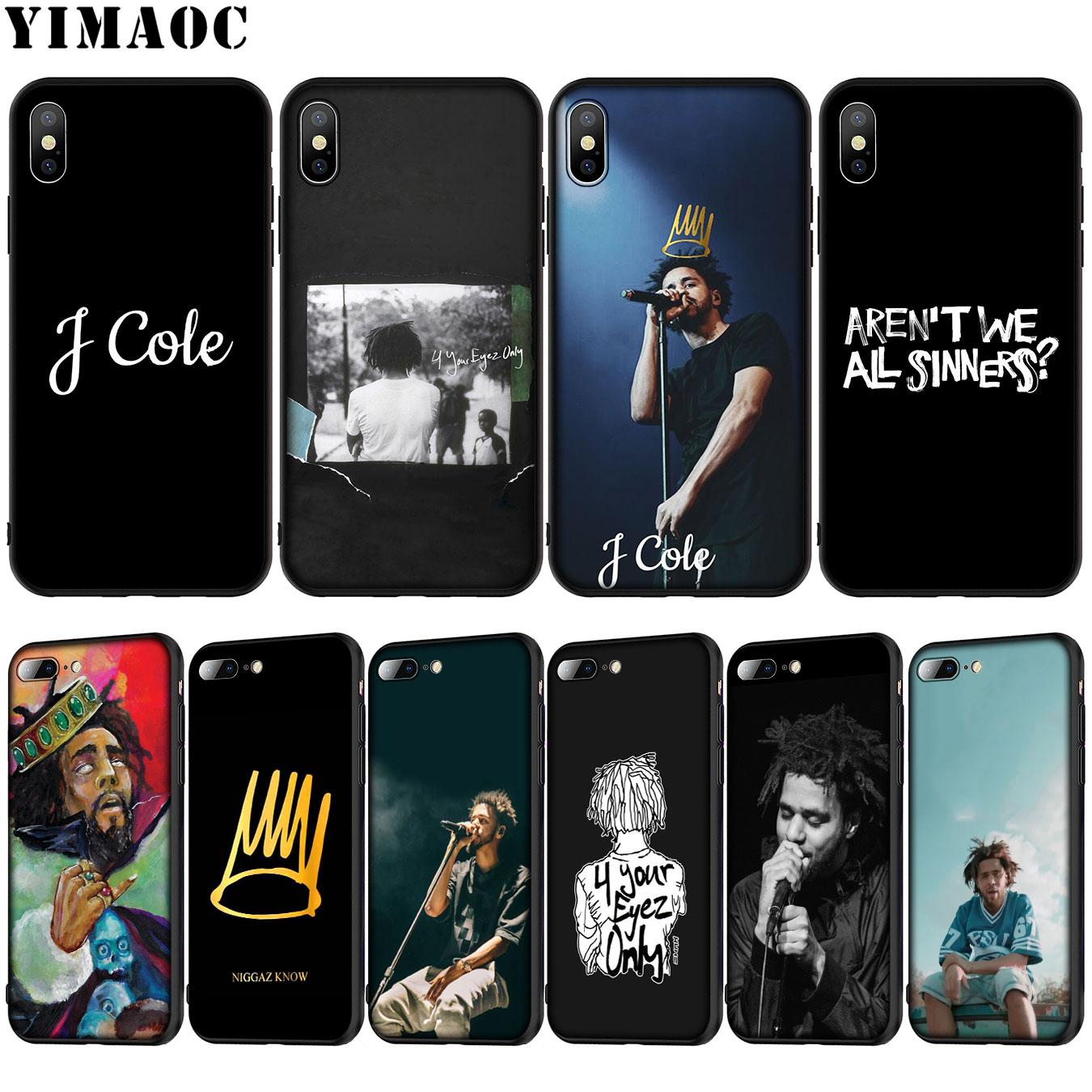 YIMAOC Rap pop j Cole Мягкий силиконовый чехол для телефона iPhone XR X XS Max X 6 6S 7 8 Plus 5 5S SE черный чехол из ТПУ