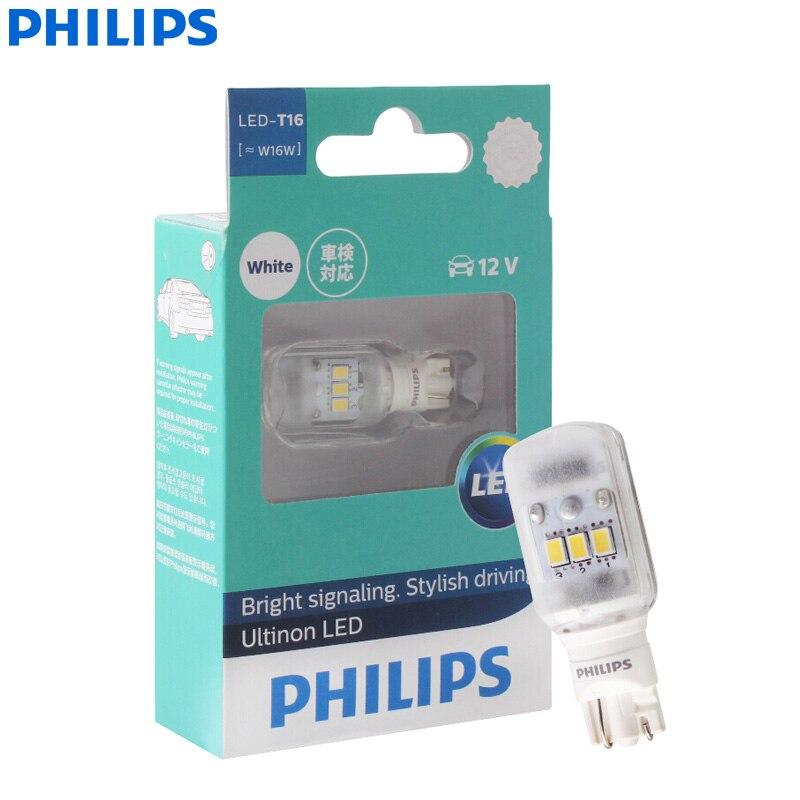 Philips Ultinon LED T16 W16W 12V 11067ULWX1 6000K крутые белые лампы указателя поворота интерьерные лампы заднего хода (одиночные)