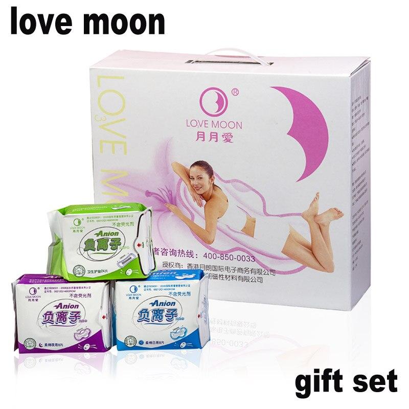 Anión servilleta sanitaria de anión amor Luna conjunto Pads mujeres de higiene femenina Love Moon Anion sanitarias de Winalite Lovemoon