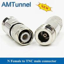 1 pièces TNC mâle à N connecteur femelle adaptateur connecteur dantenne pour téléphones câble dantenne